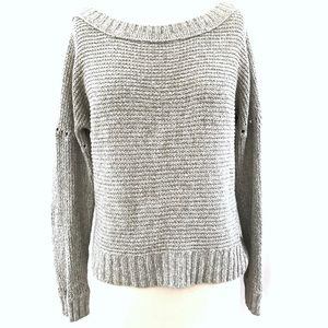Aerie Gray Knit Oversized Sweater